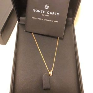 monte carlo Jewelry - Monte Carlo 18k gold, 0.3 ct diamond necklace